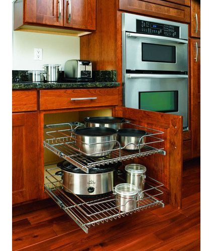 Organizing a kitchen--contemporary cabinet and drawer organizers by Lowe's