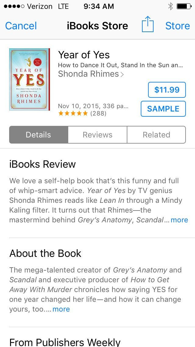 Year of Yes by Shonda Rhymes