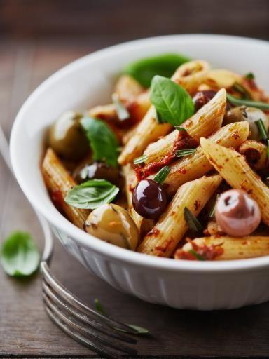 Pâtes aux olives : Recette de Pâtes aux olives - Marmiton