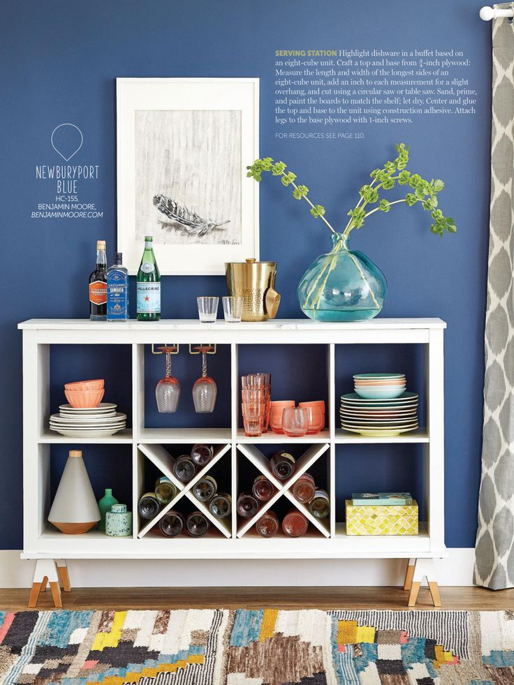 Take a 8 cube storage unit and turn it to a buffet table                                                                                                                                                                                 More