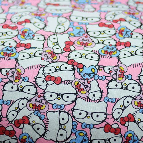90x140cm Pink Cartoon Printed Cotton Canvas Kids Children Sewing Material Upholstery Fabric tela infantil telas para patchwork