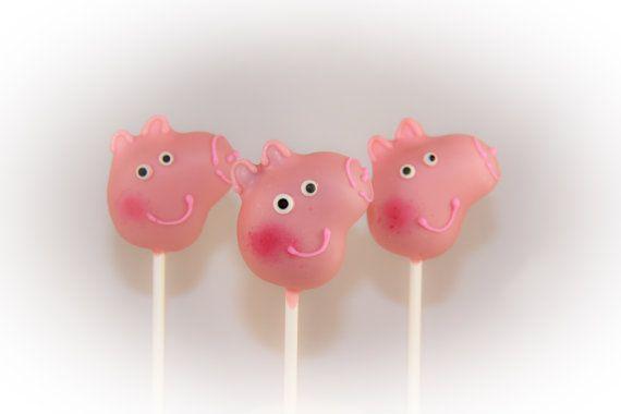 So Sweet Pops Happily Made Pig Inspired Cake Pops by SoSweetPops, $22.00