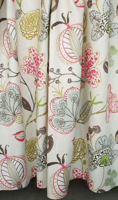 gorgeous hand drawn floral fabric just in the door at www.tonicliving.com #tonicliving (click on the image to buy or swatch).