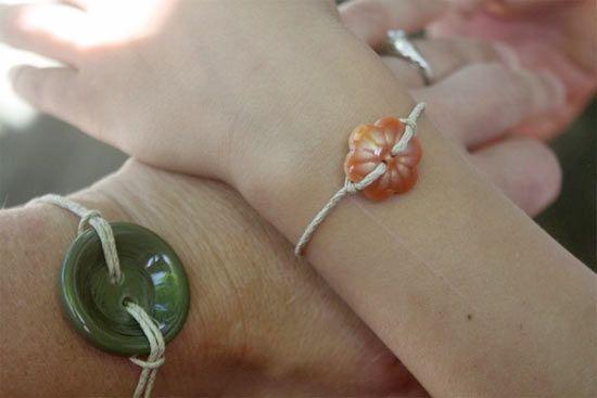 Twine Button Bracelet : Factory Direct Craft Blog