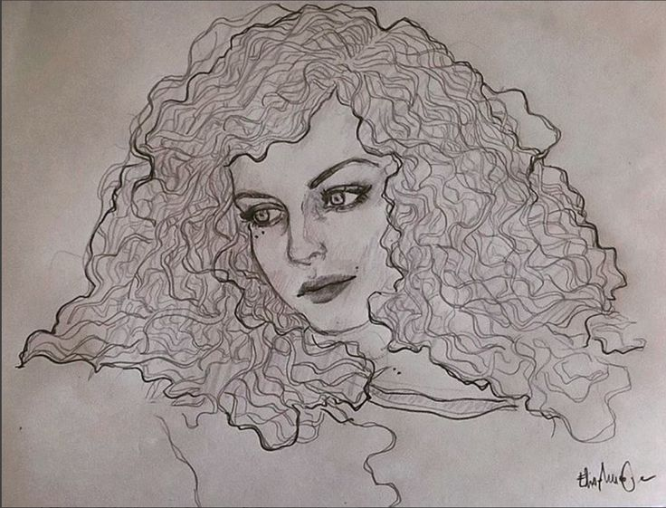 #illustration #curlyhair #hair #girl #drawing #elisamuraglia #eyes