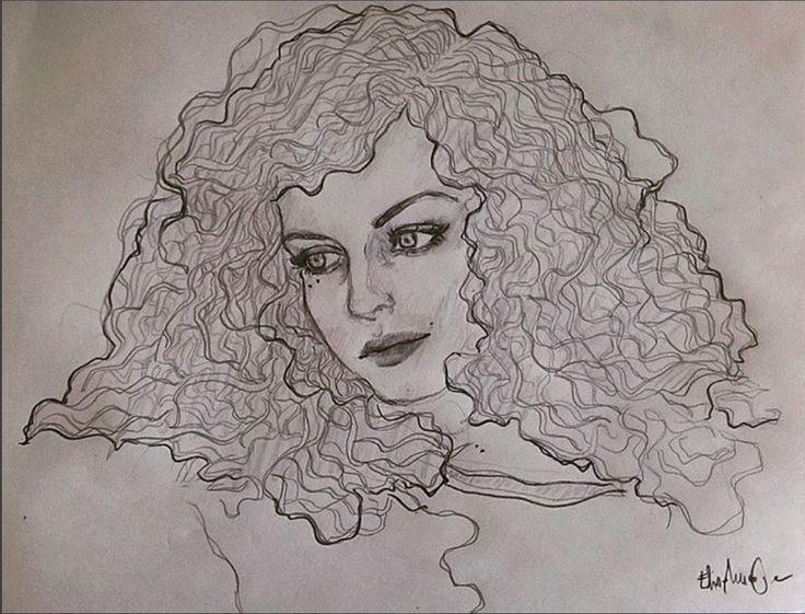 #illustration #curlyhair #hair #girl #drawing #elisamuraglia #eyes