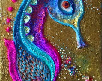 Textur-abstrakte Gemälde das goldene Tor rot und Gold von ABYSSIMO