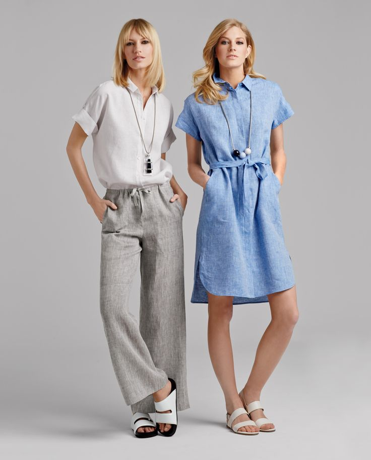 Beautiful linen looks to keep cool and casual for those hot Summer days. Love the effortless flow.