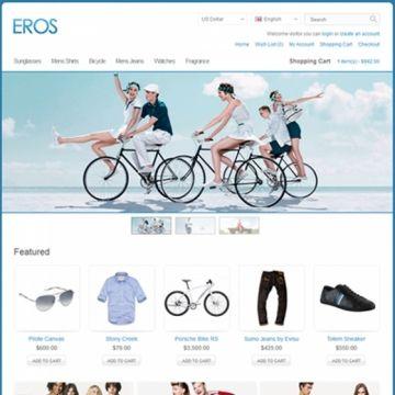 Eros | Très bien, classe, avec un arrière plan coloré. Thème Premium qui vien avec un éditeur de couleur pour presque tout ainsi que des texture pour le fond. Assez Interessant. | Demo: http://themeglobal.com/opencart/eros/ | Prix: 30$