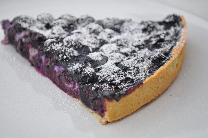 tarte aux myrtilles avec crème