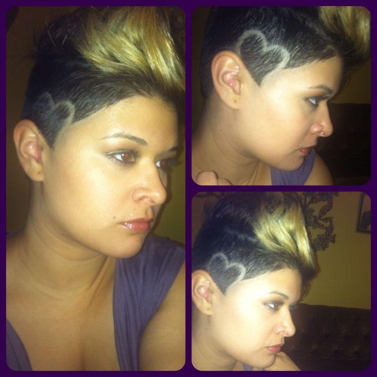 Shaved head design understand