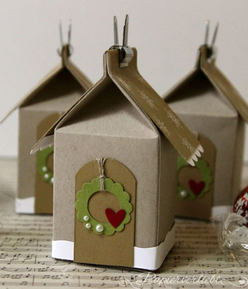 102 best images about milk carton boxes on pinterest for Christmas crafts with milk cartons