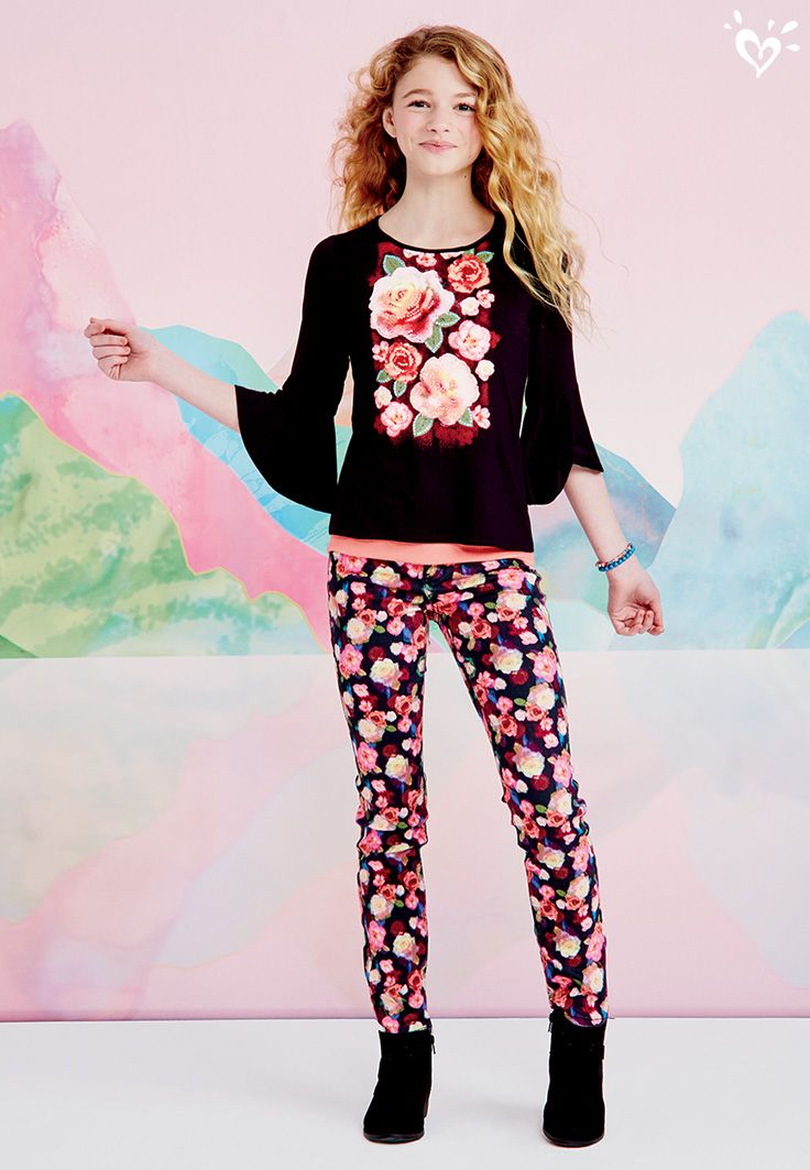 Floral denim pants? Yes please! We're so there.