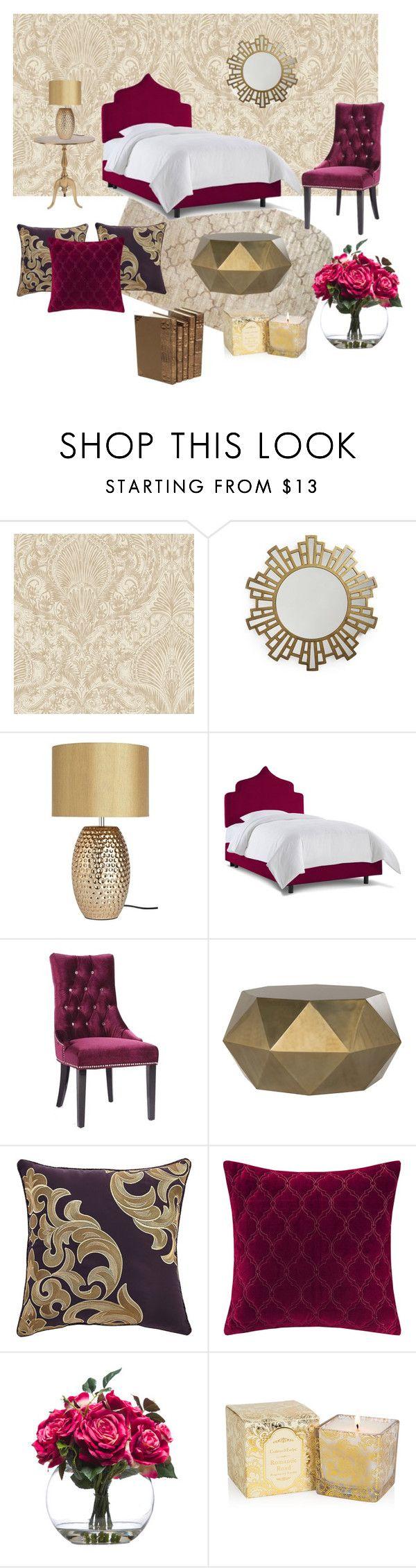 """Untitled #36"" by reetta-v on Polyvore featuring interior, interiors, interior design, home, home decor, interior decorating, Era Home, Armen Living, Croscill and Madison Park"