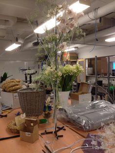 Feste reagensrør og dekorere med blomster