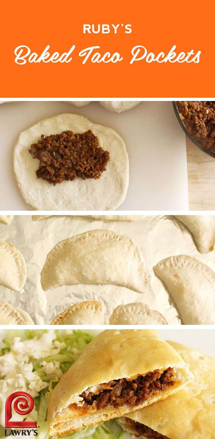 30 minute meal: A twist on the classic taco recipe, these taco pockets from @rubydw are an easy weeknight dinner.