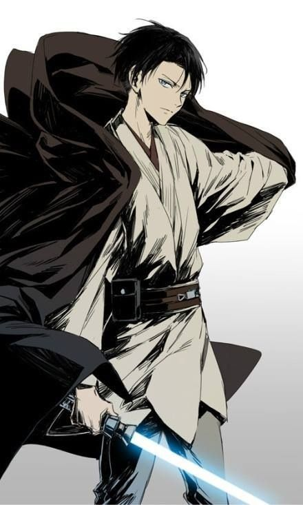 Rivaille (Levi) | SNK and Star Wars crossover- EPIC! I wouldnt mind him being my teacher...hueheuhe