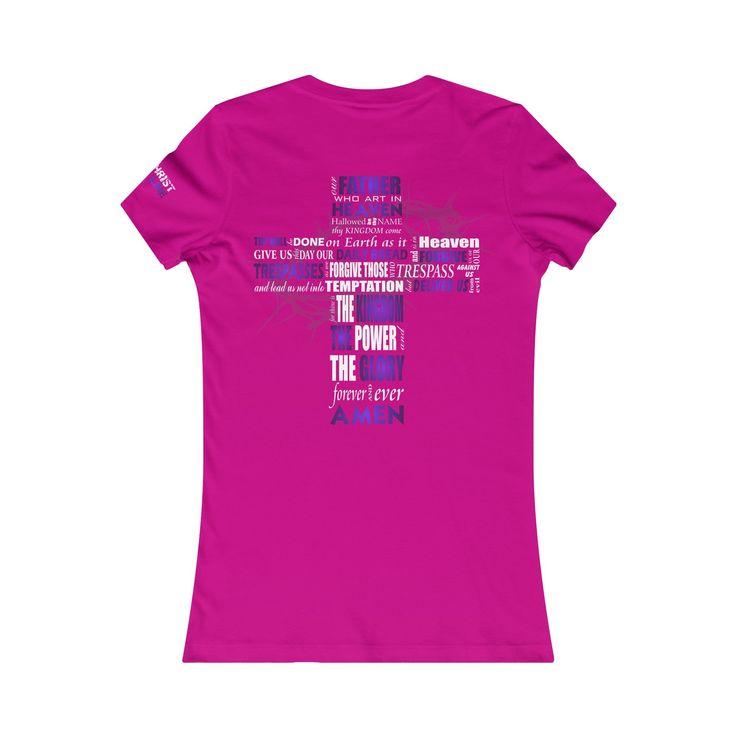 """The Lord's Prayer"" Women's Tee | Purple Imprint"