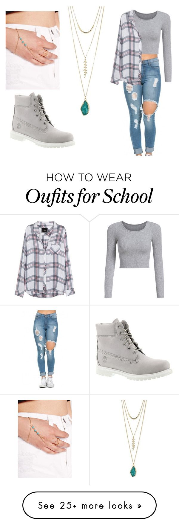 """Eloise. 1st day of school."" by zenunannaerb on Polyvore featuring Rails, Timberland and Missguided"