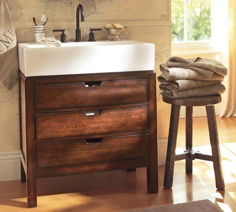 Farmhouse style sink storage bunk room bath pinterest
