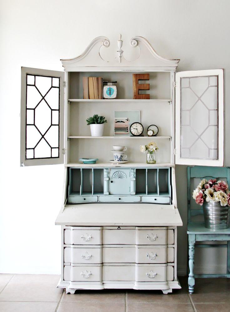 Elegant Antique Vanity [ Sold ] Vintage Shabby Chic Full Bed [ Sold ]  Elegant Antique. Secretary Desk With HutchAntique Secretary ...