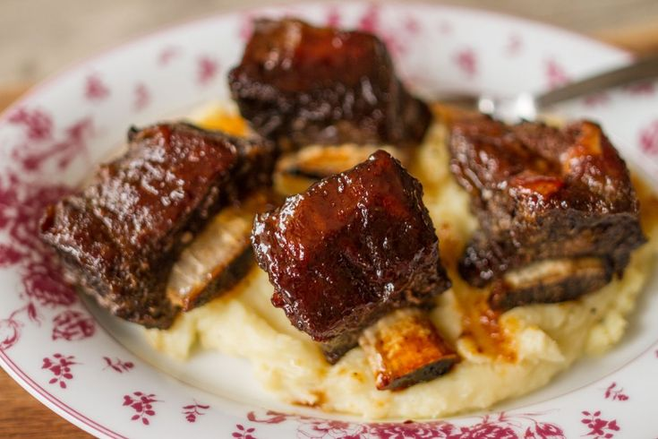 Soya Glazed Ribs! Spareribs are a cut of beef that is very tough and needs a long time to cook in order to become tender. The marinade lends a caramel color and helps tenderize the meat.   Us...