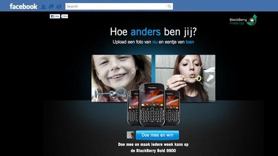 BlackBerry Tradeup Facebook campagne