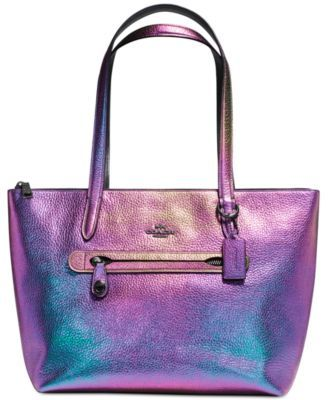 COACH Taylor Tote in Hologram Leather | macys.com