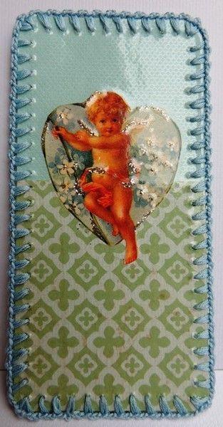 Omhaakte bladwijzer : engeltje in hart van -CarlaK- op DaWanda.com