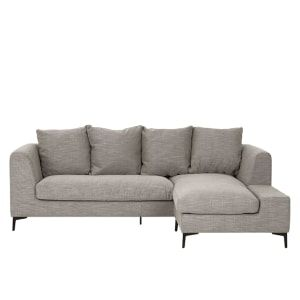 Maurice 4 Seater Corner Chaise Sofa, Textured Weave Taupe   made.com