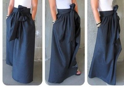 Women's Ladies Long Maxi New Fashion Elegant Tailored Skirt Handmade Sash | eBay Will make this beautiful skirt for you