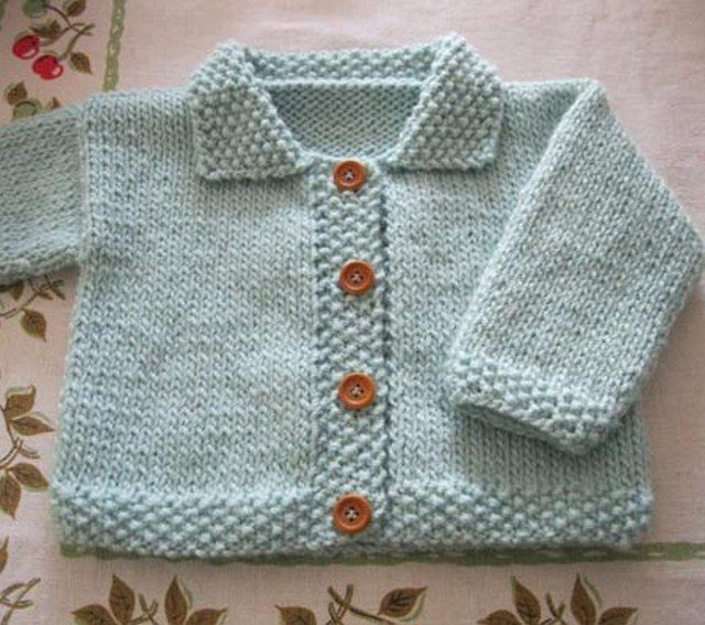 Easy Knitting Ideas Pinterest : Knit baby boy sweater pattern for free