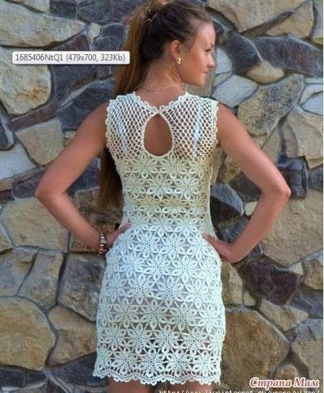 Esquema posterior del vestido