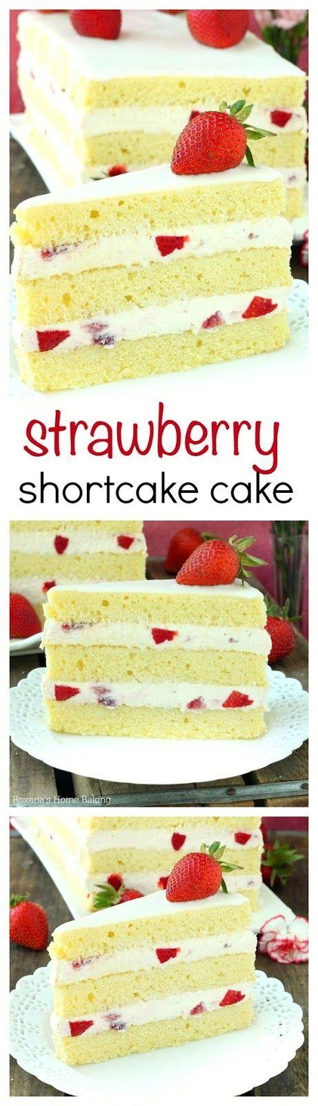 STRAWBERRY SHORTCAKE CAKE RECIPE   Cake And Food Recipe