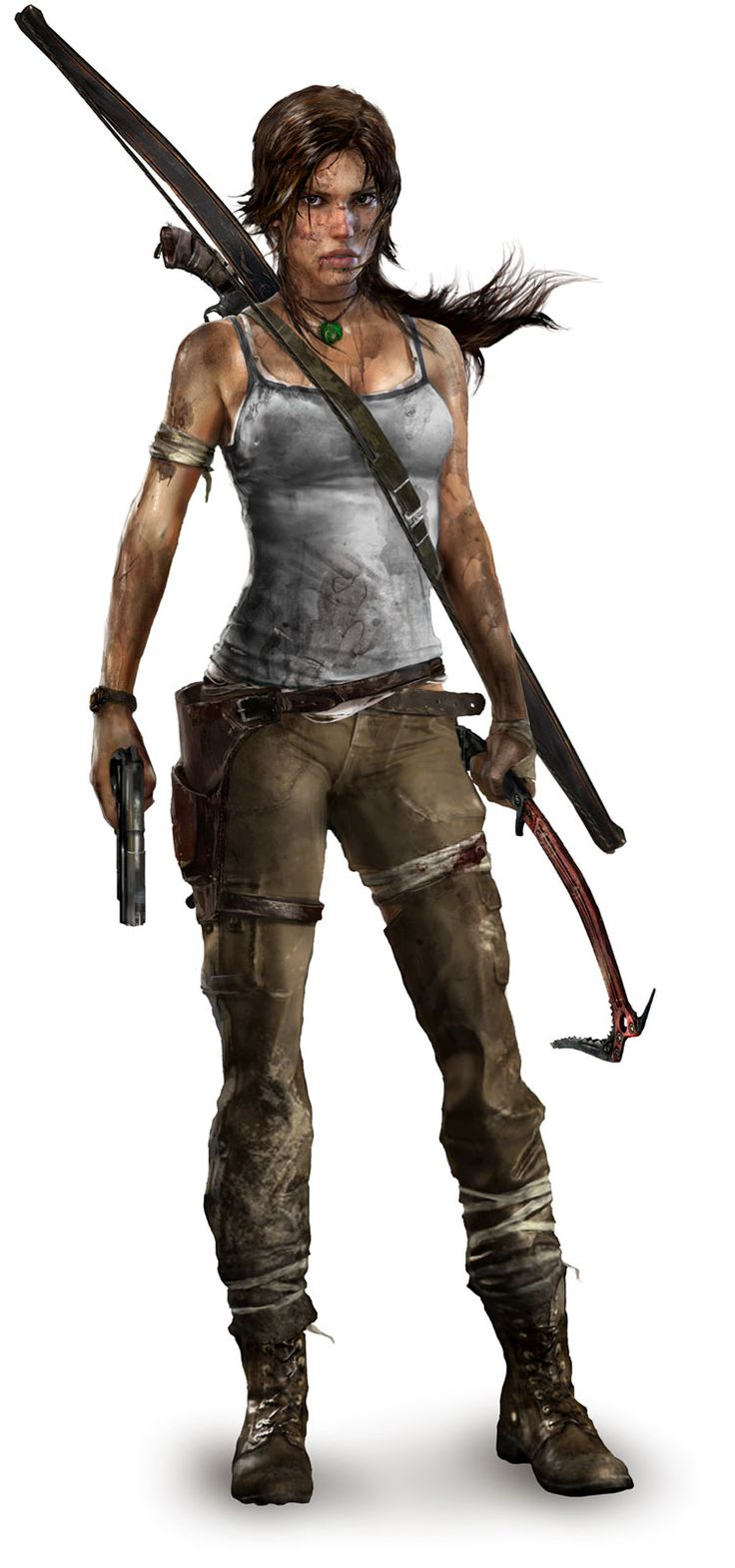 New Tomb Raider look. Personally I like it. She actually looks like she can kick ass!