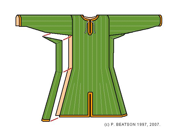 A Gambeson Pattern for Byzantine Re-enactment    Peter Beatson (NVG Miklagard)