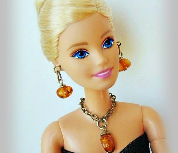 Barbie doll jewelry barbie jewelry set amber jewelry doll