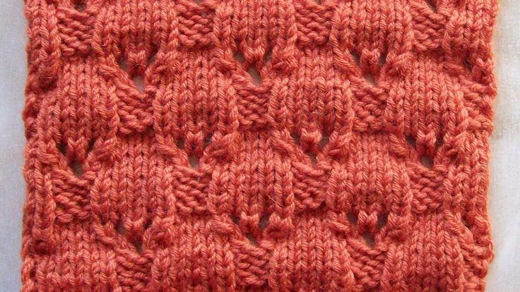 Плотный узор с элементами ажура Вязание спицами Видеоуроки