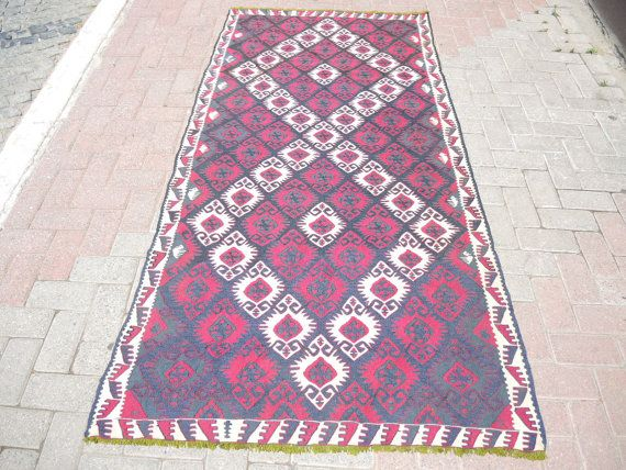 Vintage Anatolian lake Van  region  handwowen pure by ArasCarpet