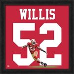 """Patrick Willis, 49ers UniFrame 20""""x20"""" Framed photographic representation of the player's jersey"""