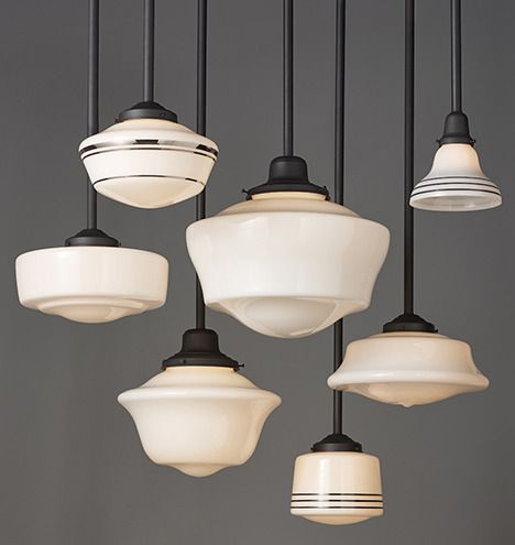 (3) School house style - could add a fun stripe of color on the - Best 25+ Schoolhouse Light Ideas On Pinterest Vintage Light