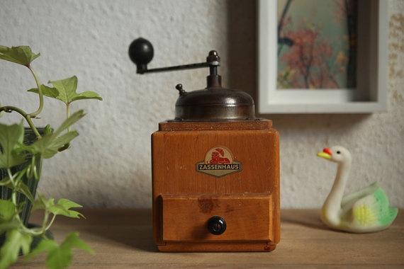 Vintage rustic Coffee Grinder, great vintage kitchen decor on Etsy, $72.00