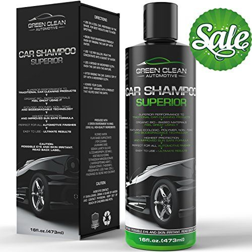 Green Clean Automotive - Car Shampoo Superior - Best Ecological Car Care Product - Powerful and Effective High Foaming Soap for All Automotive Finishes - Spot-Free - Removes Dirt and Dust Effectively - Ultimate Shine - Highest Protection - 16 oz - http://www.caraccessoriesonlinemarket.com/green-clean-automotive-car-shampoo-superior-best-ecological-car-care-product-powerful-and-effective-high-foaming-soap-for-all-automotive-finishes-spot-free-removes-dirt-and-dust-effectively/