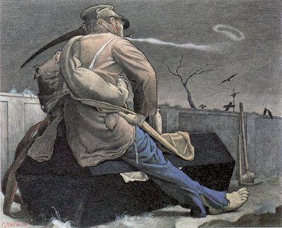 Felix Jenewein, The Suicide's Funeral, 1901