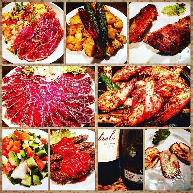 代々木にあるお店ビストロひつじやさんは、一番おすすめの羊肉のタタキ🐑🍖が食べられる地中海料理・アフリカ料理の異国情緒溢れるお店(なので、お店の方みなさん外国人で日本語が片言🍀)✨✨また土曜日は昼間から世界中の珍しいワインを激安で飲めるので呑べえには嬉しいお店✨✨今回は、初体験のモルドバの赤ワイン🍷とスパークリングワイン🥂(今回のワインはボトルでなんと1000 円ちょと‼️)とトルコのビール🍺をいただきました😆💕#ランチ #ワインのボトル激安🍷#lunch #お昼ご飯 #昼御飯#昼ごはん #昼飲み #ワイン #ビール #外食 #異国情緒 #肉 #羊肉 #代々木
