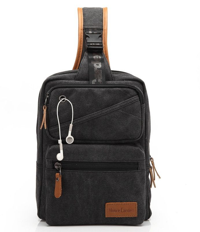 Men's Designer Multifunctional Top-Quality Mountaineer-Style Canvas One-Shoulder Backpack 2 Colors