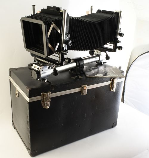 Toyo View 45G 4x5 Large Format Monorail View Camera with Case Lens Board Manual