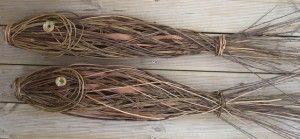 fish (willow weaving) by Angela Morley Fisk i kaos flet