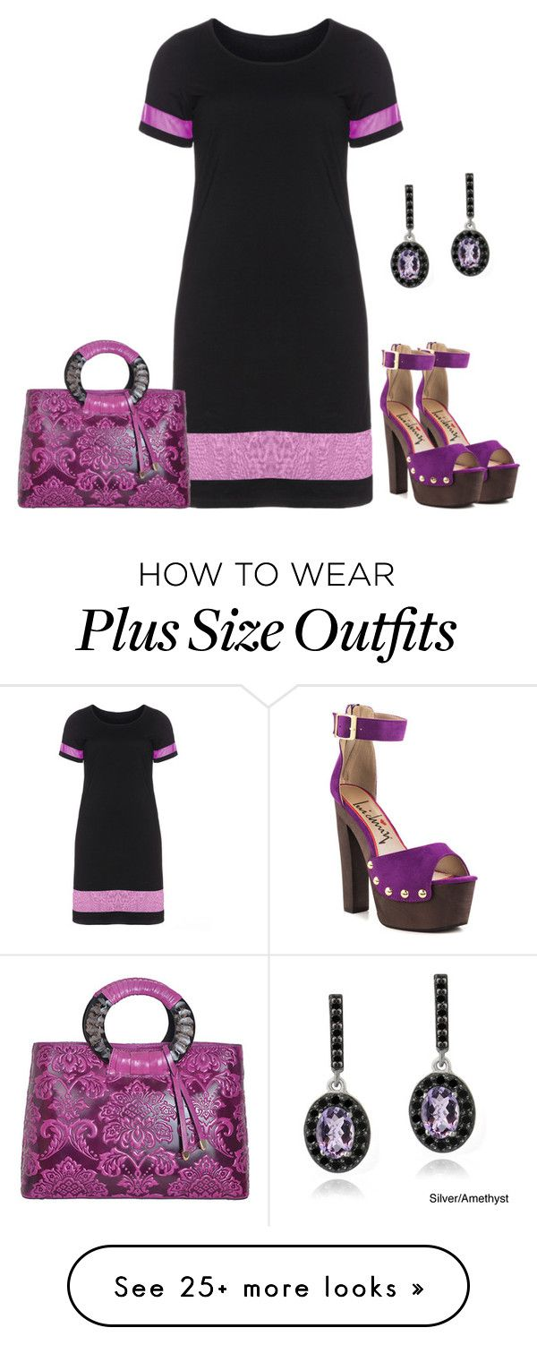 """Plum Fengy"" by sjlew on Polyvore featuring Luichiny, Manon Baptiste, WithChic and Glitzy Rocks"