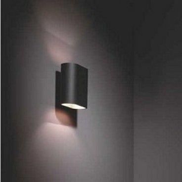 Duell wall wandlamp, black/gold van Modular